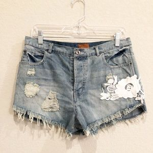 NWT POL embroidered shorts